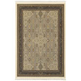 Oriental Weavers Masterpiece 1335I Ivory and Dark Blue