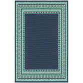 Oriental Weavers Meridian 9650B Navy and Green