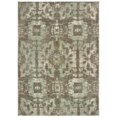 Oriental Weavers Montage 4928E Grey and Green