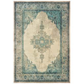 Oriental Weavers Raleigh 2337W Ivory and Blue