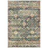 Oriental Weavers Raleigh 4925L Blue and Ivory