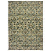 Oriental Weavers Raleigh 4927L Ivory and Blue