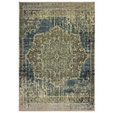 Oriental Weavers Raleigh 6649H Blue and Ivory