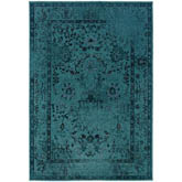 Oriental Weavers Revival 550H2 Teal and Grey