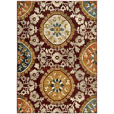 Oriental Weavers Sedona 6366A Red and Gold