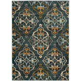 Oriental Weavers Sedona 6368B Blue and Gold