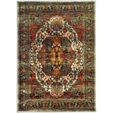 Oriental Weavers Sedona 6382B Red and Multi