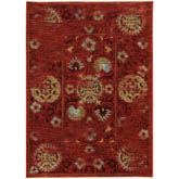 Oriental Weavers Sedona 6386E Red and Gold