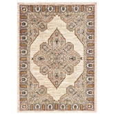 Oriental Weavers Sedona 9588D Ivory and Gold
