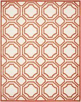 Safavieh Amherst AMT411F Ivory and Orange