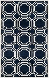 Safavieh Amherst AMT411P Navy and Ivory