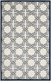 Safavieh Amherst AMT413M Ivory and Navy
