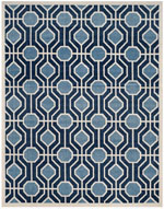 Safavieh Amherst AMT416Q Light Blue and Navy