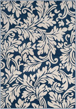 Safavieh Amherst AMT425P Navy and Ivory