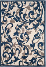 Safavieh Amherst AMT428M Ivory and Navy