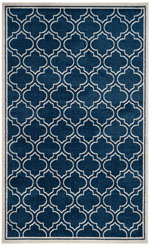 Safavieh Amherst AMTW412P Navy and Ivory