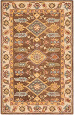 Safavieh Antiquity AT502T Dark Brown and Ivory
