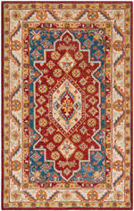 Safavieh Antiquity AT503Q Red and Blue