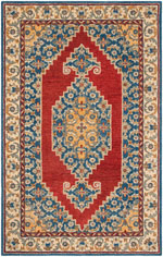 Safavieh Antiquity AT505M Blue and Red