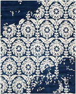 Safavieh Bella BEL125D Navy and Ivory