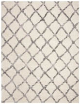 Safavieh Berber Shag BER215B Ivory and Grey