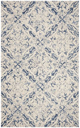 Safavieh Blossom BLM103M Blue and Ivory