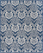 Safavieh Blossom BLM106B Navy and Ivory