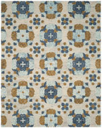 Safavieh Blossom Blm673a Rust And Multi Area Rug Free