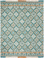 Safavieh Blossom BLM421B Ivory and Teal