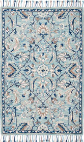 Safavieh Blossom BLM457M Blue and Ivory