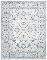 Safavieh Brentwood BNT854G Light Grey and Blue