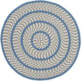 Safavieh Braided BRD401A Ivory and Blue