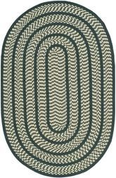 Safavieh Braided BRD401B Ivory and Dark Green