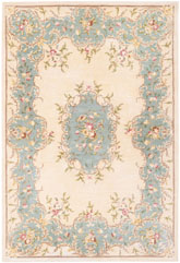 Safavieh Bergama BRG166A Ivory and Light Blue
