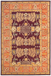 Safavieh Bergama BRG190C Red and Rust