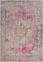 Safavieh Bristol BTL343B Fuchsia and Light Grey
