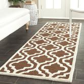 Safavieh Cambridge CAM132H Dark Brown and Ivory