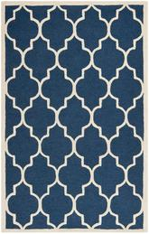 Safavieh Cambridge CAM134G Navy and Ivory