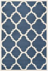 Safavieh Cambridge CAM140G Navy and Ivory