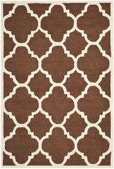 Safavieh Cambridge CAM140H Dark Brown and Ivory