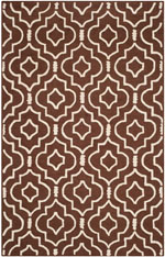 Safavieh Cambridge CAM141H Dark Brown and Ivory
