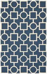 Safavieh Cambridge CAM143G Navy Blue and Ivory