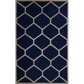 Safavieh Cambridge CAM144G Navy Blue and Ivory