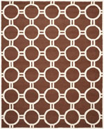 Safavieh Cambridge CAM145H Dark Brown and Ivory