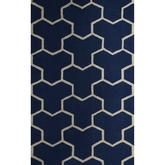 Safavieh Cambridge CAM146G Navy Blue and Ivory