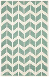 Safavieh Cambridge CAM718T Teal and Ivory