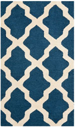 Safavieh Cambridge CAMS121G Navy and Ivory