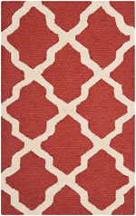 Safavieh Cambridge CAMS121L Rust and Ivory