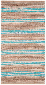 Safavieh Cape Cod CAP862D Natural and Teal