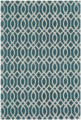 Safavieh Cedar Brook CDR141A Teal and Ivory